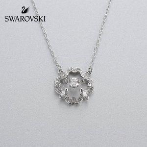 Swarovski Sparkling Dance Pear Necklace, White